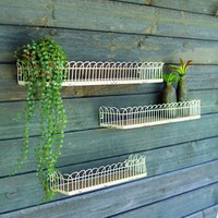Irvin Wood And Wire Wall Shelves (Set of 3)