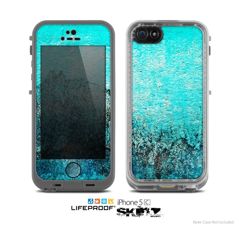 Image of The Grungy Teal Surface V3 Skin for the Apple iPhone 5c LifeProof Case