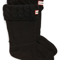 Hunter Cable Knit Cuff Welly Socks,