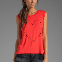 Lovers + Friends Call Me Crop Heart Tank in Tigerlily from REVOLVEclothing.com