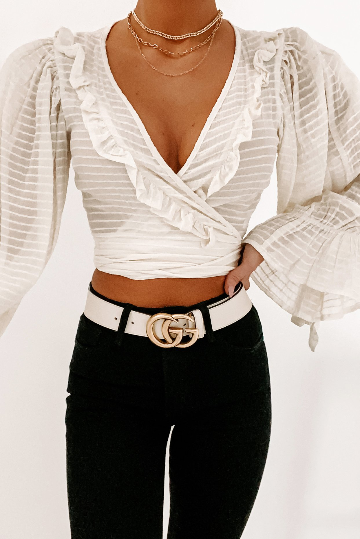 Image of Endless Enchantment Wrap Top (Cream)