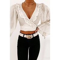 Endless Enchantment Wrap Top (Cream)