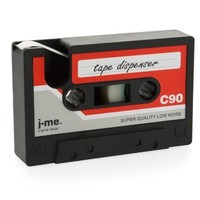 j-me Cassette Tape Dispenser, Red