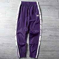 PUMA 2018 new men and women couple models string street pants F0648-1 Purple