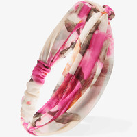 Knotted Floral Chiffon Headwrap | FOREVER21 - 1000050007