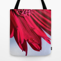 Flowers and drops of water Tote Bag by Karl-Heinz Lüpke