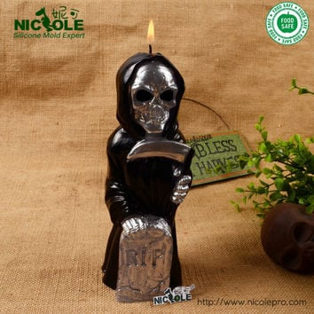 Halloween Terror Silicone Rubber Chocolate mold Diy soap silicone molds, Ghost candle moulds