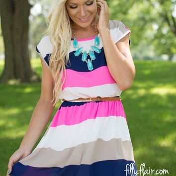 Pretty for Days Colorblock Dress