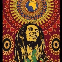 Bob Marley Africa Circles Tapestry - 30 Inches X 41 Inches