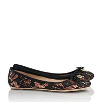 Satin and Lace Chelsea Ballet Flat