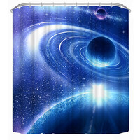 3D Space Shower Curtain 180x200cm