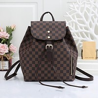 Louis Vuitton LV new casual drawstring bucket bag old pattern large capacity backpack bag