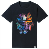 Fashion Casual Simple Male Female Large Size Multicolor Clover Letter Print Round Neck Short Sleeve Cotton T-shirt