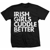 "Unisex ""Irish Girls Cuddle Better"" Tee by Dpcted Apparel (Black)"