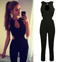 Stylish Women's Sleeveless O-neck Backless Jumpsuit Romper W_C CB037065 = 1651434244