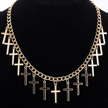 Gold Plated Cross Necklace