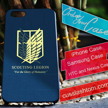 Exclusive Scouting Legion iPhone for 4 5 5c 6 Plus Case, Samsung Galaxy for S3 S4 S5 Note 3 4 Case, iPod for 4 5 Case, HtC One M7 M8
