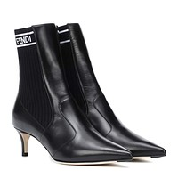 FENDI Leather ankle boots-1