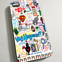 One Direction Love Art - Print on Hardplastic for iPhone 4/4s and 5 case, Samsung Galaxy S3/S4 case.
