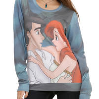 Disney The Little Mermaid Ariel Eric Girls Crew Pullover