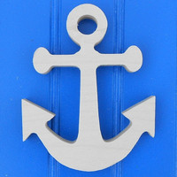 """6"""" Unpainted Wooden Nautical Shapes Wall Hanging Room Decor Kids Crafts"""