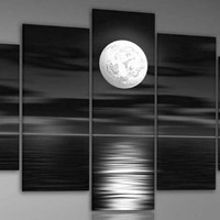 Wieco Art 5 Panels Oil Paintings Set on Canvas Wall Art Décor for Living Room