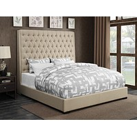 G300722 - Camille Bed And Headboard - Cream