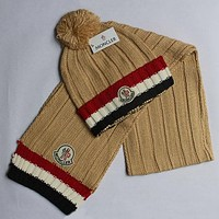 Moncler   Women Men Fashion  Casual  Hat Cap Scarf  Set Two-Piece