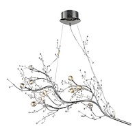 Viviana 10-Light Chandelier in Polished Chrome with Crystal