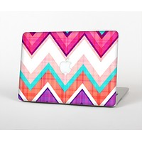 """The Vibrant Teal & Colored Chevron Pattern V1 Skin Set for the Apple MacBook Pro 13""""   (A1278)"""