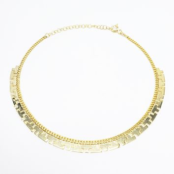 Minimal Puzzle Style Body Chain Adjustable Anklet| 925 Sterling Silver