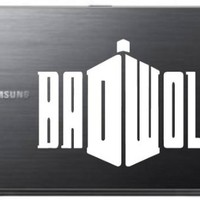 """Bad-Wolf-Doctor-Who Car Truck Laptop Sticker Decal 5"""" Diameter"""
