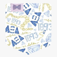 Delta Delta Delta on Short Sleeve