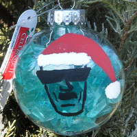 Breaking Bad CHRISTMAS ORNAMENT filled with Sky Blue Rock Candy