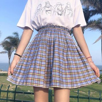 The BabyDolls Plaid Highwaist Skirt