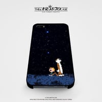 Calvin and Hobbes Outer Space Stars case for iPhone, iPod, Samsung Galaxy, HTC One, Nexus