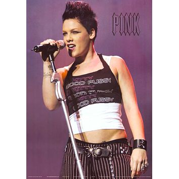 Pink On Stage Poster 24x34