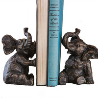 Dessau Home Bronze Elephant Bookends - Hc631