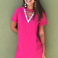 Happier Days Dress-Pink