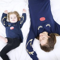 LASHES Mommy & Me Arable Casual Sweatsuit PJs Loungewear Mother Daughter Matching Family Outfit