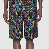 GUCCI Summer Hot Sale Men Women Casual Colorful G Letter Print Sport Running Beach Shorts