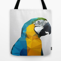 Geo - Parrot Tote Bag by Three of the Possessed