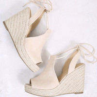 Tied Up Espadrille Wedge