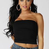 Black bustier crop top