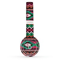 The Vector Green & Pink Aztec Pattern Skin Set for the Beats by Dre Solo 2 Wireless Headphones