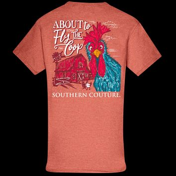 Southern Couture Classic About to Fly the Coop Chicken T-Shirt