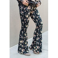Cher Printed Flare Pants - Hibiscus Print
