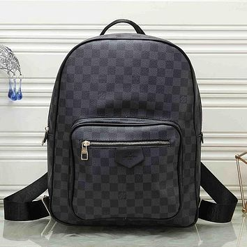 LV Louis Vuitton Pattern Leather Travel Bag Backpack