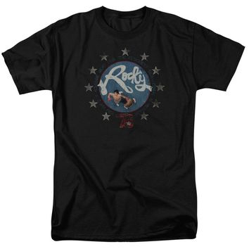 Rocky T-Shirt Balboa and Creed in the Ring Black Tee