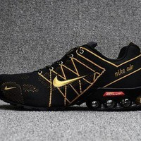 DCCKBTW Dependable Nike Air Ultra Max 2018. 5 Shox Black Gold Trainers Men's Running Shoes